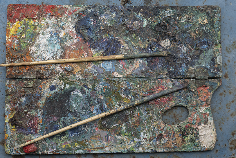 Koert's painting palette